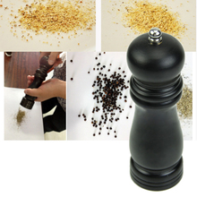 1pc 17cm x 4.7cm Wood + Ceramic Manual Pepper/Salt Mills Grinder Kitchen Muller Cooking Tools Accessories