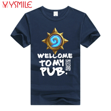 2017 t shrit free shipping game Hearthstone T Shirts Men casual welcome tomy pub Print tops Tees xxl Hearth Stone T-Shirt(China)