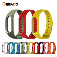 Lemado New popular changeable wrist strap for XIAOMI MI Band 2 high quality and environmental wristband for MI Band 2(China)