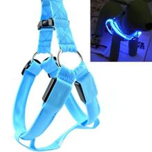 Dogs Collars And Harnesses LED Nylon Pet Dog Collar Night Safety Glow for Small Dogs Collars Arnes Para Perros #7407