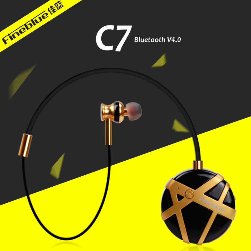 Fineblue fl-c7 noise reduction headphones wireless stereo headset stereo bluetooth in ear handfree earphones with mic for phones<br>