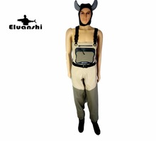 Light-Weight Feather breathable Fly Fishing Waders Additional Durability suit chest overalls boots Men ELUANSHI factory outlet(China)