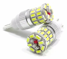 Super Bright 10Pcs Wholesale White/Amber/Red T10 194 168 3014 36SMD Canbus Led Reading Lights Dashboard/Dome/Gauge/Trunk/License(China)