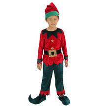 funny christmas costumes for boy red fairy costumes for boys children funny halloween costumes kits fairy boys cosplay(China)
