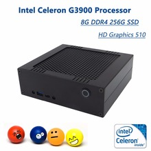 In stock! Mini PC With Intel Celeron G3900, 4K HD Graphics 510, 8G DDR4 256G SSD, Cheap Mini HTPC With HDMI+Windows 10+Wifi-BT