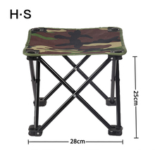 Outdoor Camouflage Folding Chair Foldable Portable Camping Chair Portable Hiking Waterpro Oxford Stool Fishing Seat 4 Legs Hot(China)