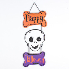 Creative Kids Adult Pumpkin Ghost Skeleton Witch Welcome Door Pendent Haunted House Halloween Party Decorations Novelty Toys(China)