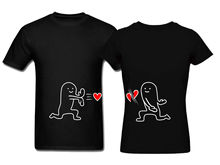 Funny Design Couple T-Shirt Couple Matching T Shirt Gift to husband and Wife(China)