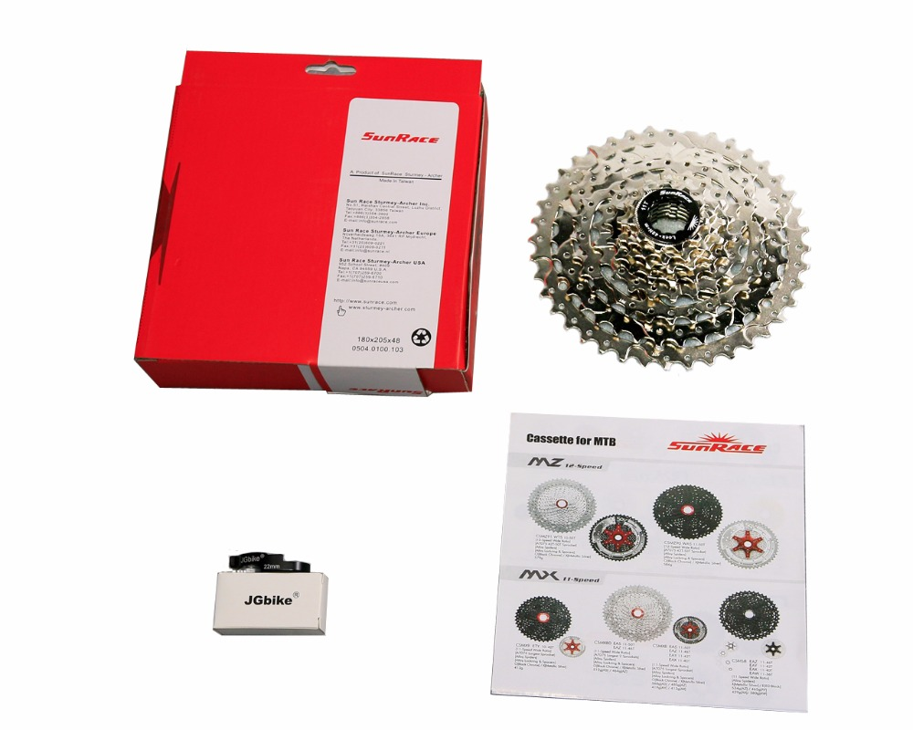 Sunrace 11-40T CSM680 wide ratio 8-speed Silver cassette with RD link by JGbike<br>