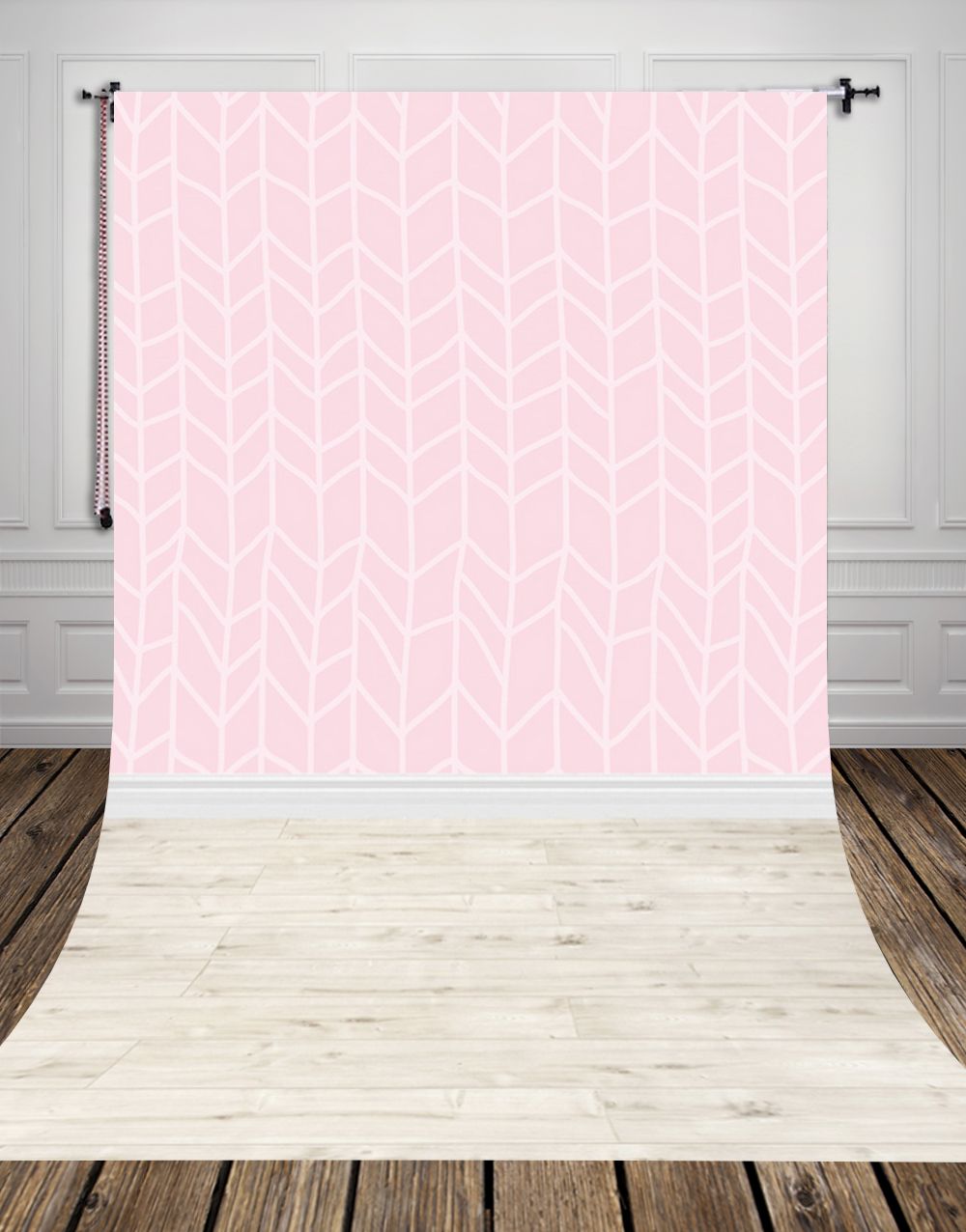 5x10ft(1.5x3m) light-colored studio photo background backdrop made of  Art fabric pink wallpaper for newborn photography D-9712<br>