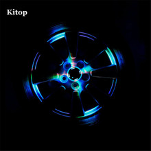 Kitop4pcs/Lot 4 Modes 12 LED Solar Powered Car Auto Flash Wheel Tire Rim Light Lamp Decoration Waterproof Multicolor(China)