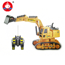 Hot Sale Remote Control Tractor Toy Rc Truck 7CH Rc Tanks Simulation Engineering Truck Excavator For Kids Electronic Model Toy(China)