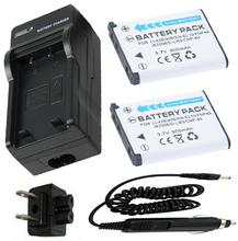 Battery (2-Pack) + Charger for KODAK KLIC-7006 KLIC 7006 KLIC7006 Lithium Ion Rechargeable 3.7V  900MAH