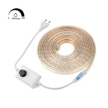 AIMENGTE LED strip lighting lamp AC220V Waterproof Dimmable SMD5050 Flexible LED tape 60LEDs/m Ribbon 1M/5M/10M/15M/20M/25M tape(China)