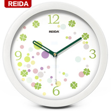 REIDA Brand 8 Inch Wall Clock Modern Design Creative Fashion Clock Ultra Quiet Children Bedroom Home Decor Clock