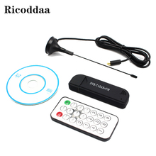 TV Tuner Stick HD USB Dongle For PC Laptop with Remote Control For Windows 7 8 Digital USB 2.0 DVB-T2/T DVB-C FM+DAB+DVB-T+SDR