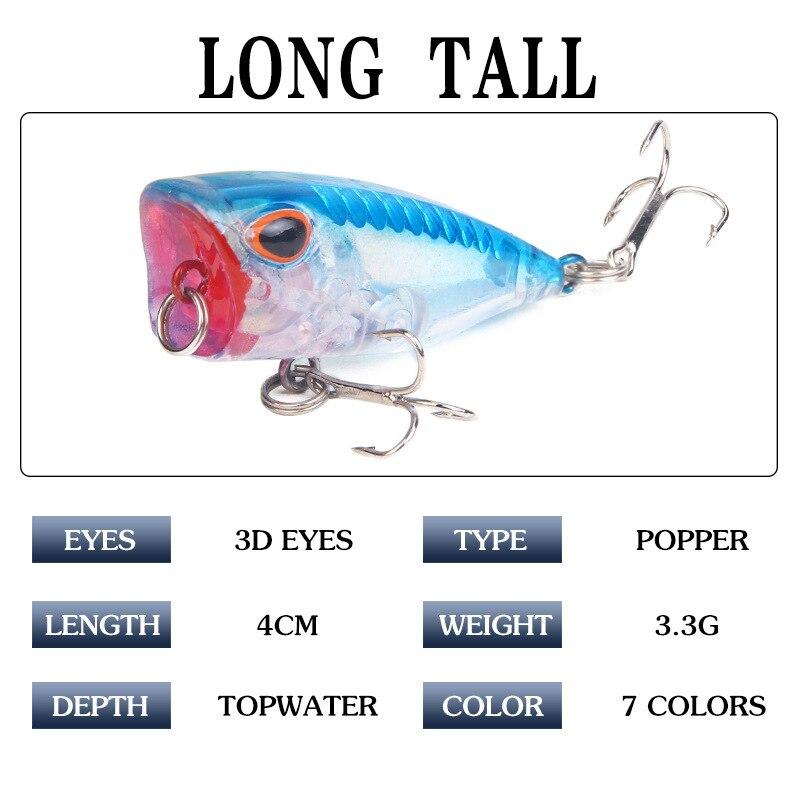 8pcs Lot Mini Colorful VIB Bait Fishing Lures Freshwater baits 4cm//2.7g Tackle