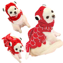 Hot Sales Halloween Pet Cat Dog Fish Goldfish Costume Cosplay Clothes Winter Warm Small Puppy Jacket