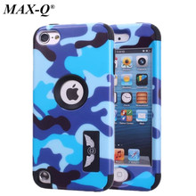 Cool Army Camouflage Armor Hard Case For ipod Touch 5 5G 5th Generation Gen Colorful Silicone Full Body Protective Cover Skin