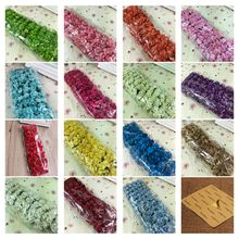 144pcs 15Colors 2cm Small paper Rose Artificial Flower Wedding Festive Decoration Handmade Clothing Shoe Box Accessories(China)