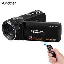 Andoer HDV-Z8 1080P Full HD Digital Video Camera Camcorder 16x Digital Zoom Digital Rotation LCD Touch Screen Max. 24 Mega Pixel