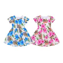 Pudcoco Child Kids Baby Girl Dress Flower Fancy Dress Kid Baby Party Wedding Pageant Dress Clothes 1-8Y