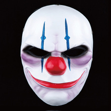 Payday 2 Mask Resin The Heist Wolf/Joker/Hoxton/Skull cosplay halloween horror clown masquerade cosplay Carnaval Costume men(China)