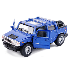 High Simulation New KiNSMART 1:40 Hummer H2 SUT Pickup Trucks Alloy Car Model Excellent For Kids Toys Gifts Free Shipping