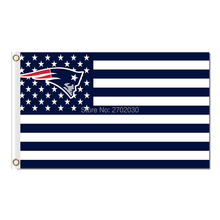 New England Patriots Flag Us United States Country Super Bowl Champions 3ftx5ft Banner 100D Polyester Flag Metal Grommets(China)