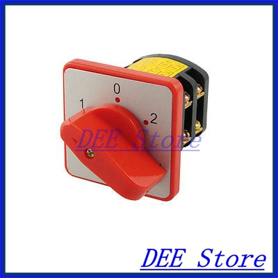 AC 380V 10A 3 Positions 8 Screw Terminals Rotary Cam Changeover Switch<br><br>Aliexpress