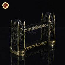WR New Year 2017 Tower Bridge Design Iron Metal Crafts Arts and Crafts Iron Desk Decoration for New Year Gifts Ornaments