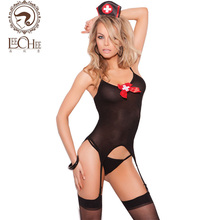 Buy Leechee Q232 latex lingerie sexy hot erotic lingerie nurse custume Erotic black costumes porn underwear lenceria porn sexy shop