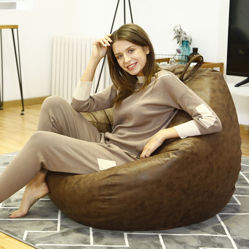 Large Bean Bag Chairs Couch Sofa Cover Indoor Lazy Lounger For Adults Kids Child