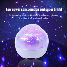 ICOCO Star Sky USB Intelligent Three Dimming Flash Magic Projection Lamp Bright Bedsides Led Projector Light Decoration Lighting(China)