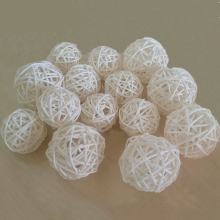 30PCs Wedding Decorations Rattan Balls 3cm for Indoor Christmas Decoration Ornaments Wedding Favors and Gifts Bachelorette Party