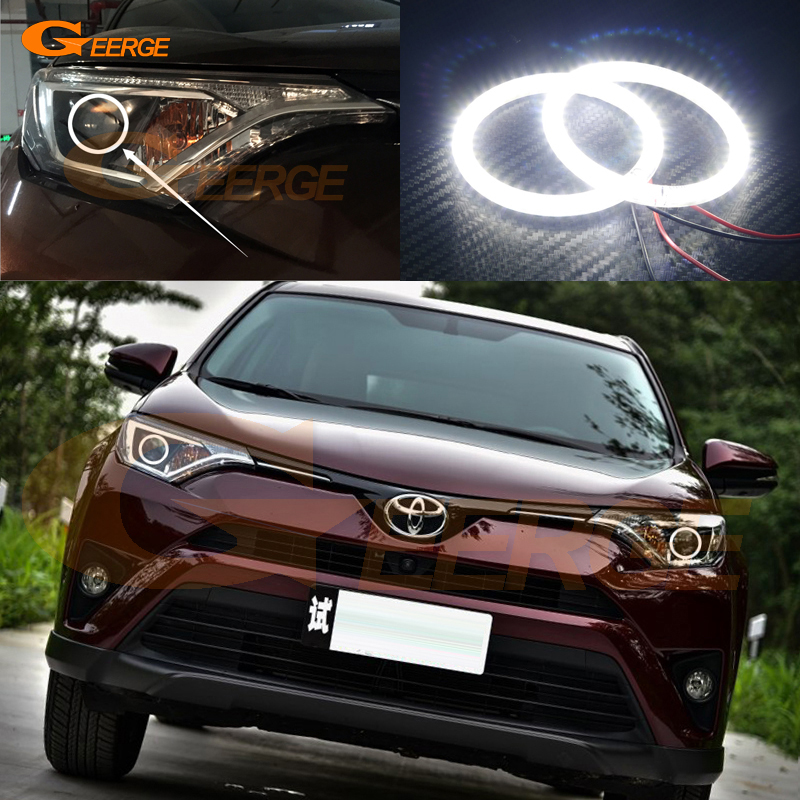For Toyota Rav4 2016 2017 Excellent Angel Eyes Ultra bright illumination smd led Angel Eyes kit halo rings<br>