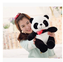 cute plush panda toy new lovely red heart panda doll gift about 30cm 0747(China)