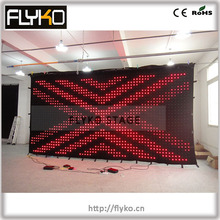 LED Viedo curtain LED Stage light of LED display wall led curtain screen