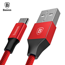 Baseus Micro USB Cable For Samsung Huawei Xiaomi Fast Charger USB Data Cable For Android Mobile Phone Microusb Charging Cable 2A(China)