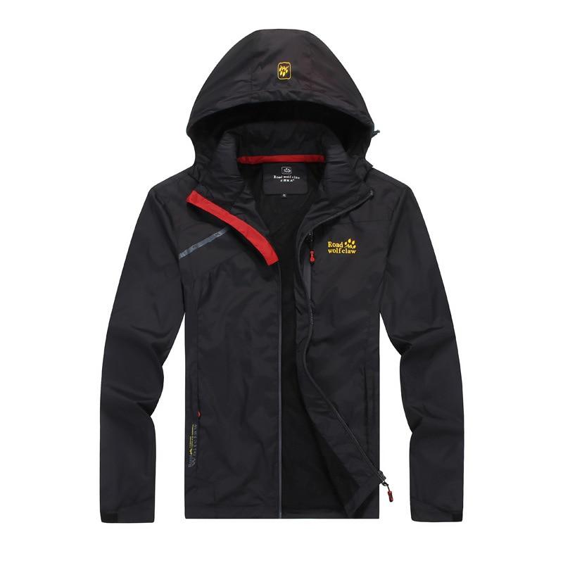 Spring Summer Autumn Casual Jacket Men Sportswear Breathable Waterproof Thin Windbreaker Hooded Coat China Size L to 4XL #160187