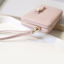 Universal Functional Phone PU Wallet Case 5.5 inch Butterfly Knot Smartphone Bag For iPhone 5/6/7/SE For Samsung S4/JI/C5/A