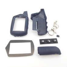 Russia version A61 case keychain for starline A61 lcd remote two way car alarm system(China)