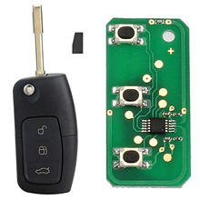 3 Button 433MHz 4D60 Chip Entry Fob Remote Car Key for FORD Mondeo Focus Fiesta New Key Shell Case for Car Free Shipping D25(China)