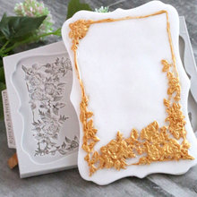 European Queen Rose Frame Silicone Mold Fondant Mould Cake Decorating Tool Chocolate Sugarcraft, Kitchen Accessories