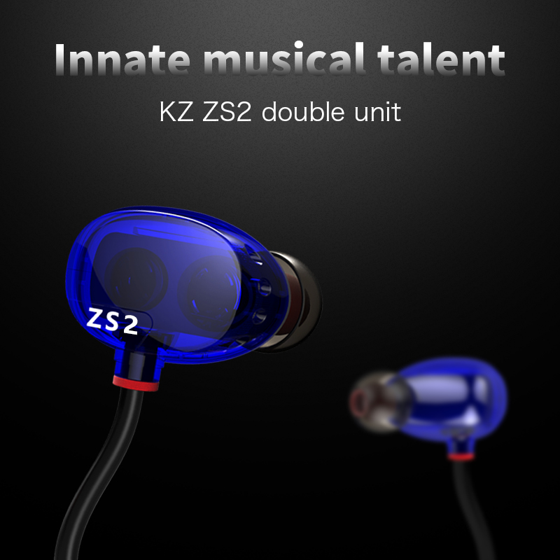 New KZ ZS2 In-Ear Earphone Dual Driver Hifi Auriculares Earpiece Original KZ-ZS2 Headset Bass Earbuds Earphones With Microphone<br><br>Aliexpress