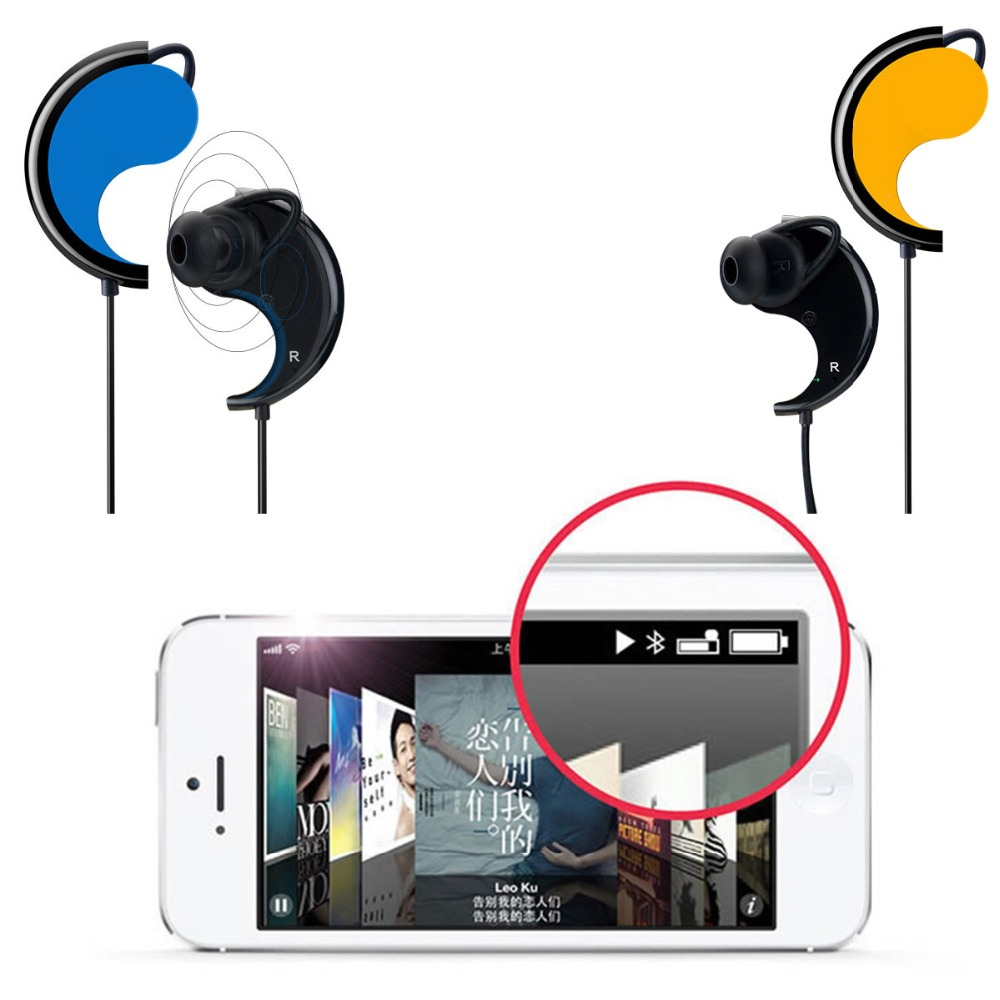 SOONHUA Magnetic Sports Bluetooth Headphone Sweatproof Earphone Earpiece Dual Connection Stereo Wireless Headset for iPhone iPad