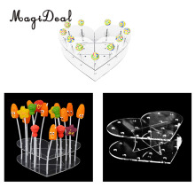 MagiDeal 15 Holes Acrylic Cake Pop Lollipop Cupcake Display Stand Birthday Wedding Party Decor Candy Stand Cake Tools