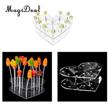 MagiDeal 15 Holes Acrylic Cake Pop Lollipop Cupcake Display Stand Birthday Wedding Party Decor Candy Stand Cake Tools(China)