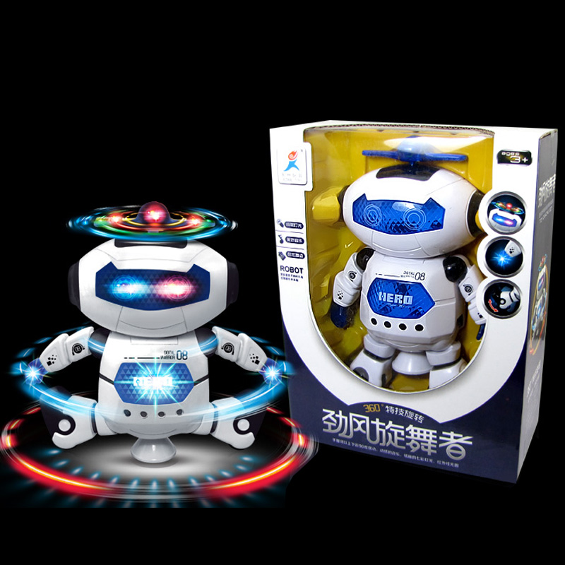 Electric space robot was dazzle dance rotating singing and dancing male girl childrens toys<br><br>Aliexpress
