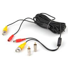10M 33FT Video DC Power Security Surveillance BNC RCA Cable for CCTV Camera DVR